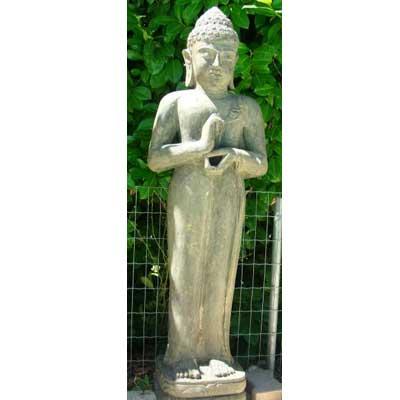 Vente statue en pierre sculpt e bouddha dewi ganesh for Deco jardin zen bouddha