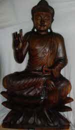 vente statue en bois de suar massif sculptee bouddha dewi ganesh deco buddha grand choix